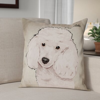 Crispin Poodle Throw Pillow