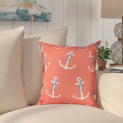 Hancock Anchor Whimsy Geometric Print Throw Pillow Size: 26 H x 26 W, Color: Orange