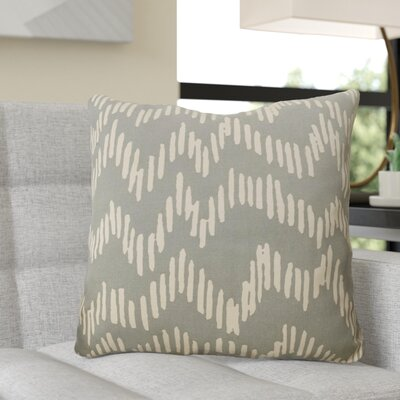 Ochoa 100% Cotton Throw Pillow Size: 22 H x 22 W x 4 D, Color: Moss / Beige