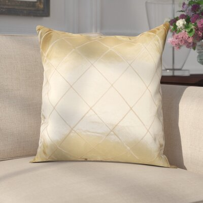 Waugh Silky Checks Decorative Throw Pillow Color: Beige
