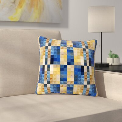 Dawid Roc New Stripes Mosaic Outdoor Throw Pillow Size: 18 H x 18 W x 5 D