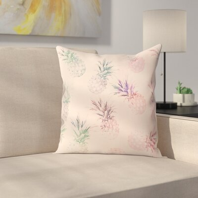 Pineapple Throw Pillow Size: 14 x 14