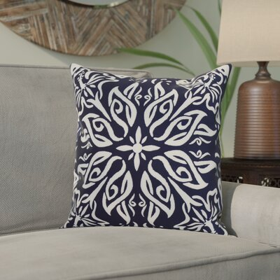 Drucker Tile Throw Pillow Color: Navy Blue, Size: 16 x 16