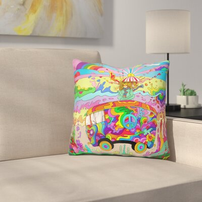 Magic Bus Throw Pillow