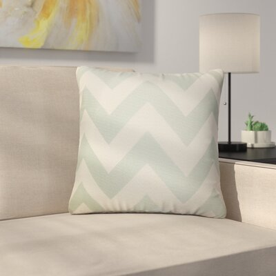 Strawn Chevron Cotton Throw Pillow Color: Jade