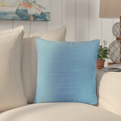 Popinac Solid Throw Pillow Color: Azure
