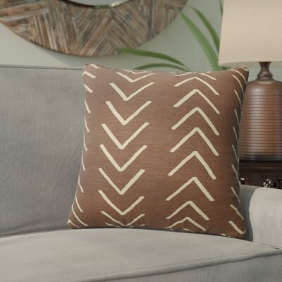 Bemelle Mud Cloth Throw Pillow with Double Sided Print Size: 24 H x 24 W, Color: Brown/ Ivory