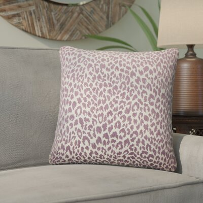 Willia Animal Print Throw Pillow Color: Orchid
