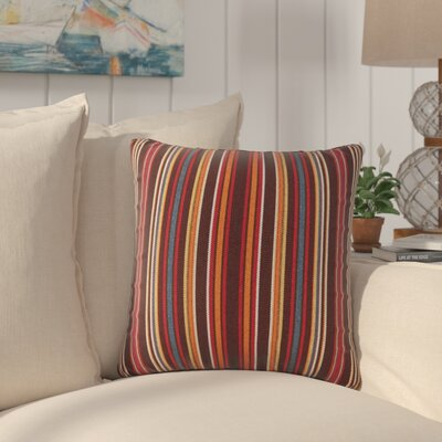 Cosey Outdoor Throw Pillow Color: Red/Brown