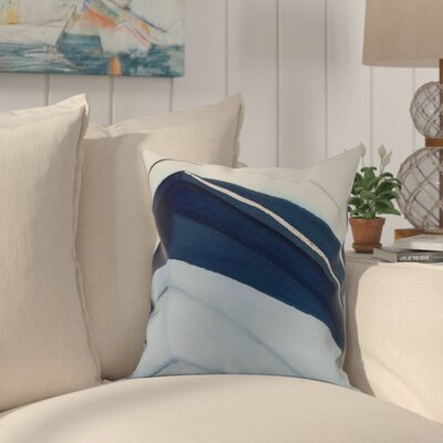 Crider Boat Bow Left Print Indoor/Outdoor Throw Pillow Color: Blue, Size: 16 x 16