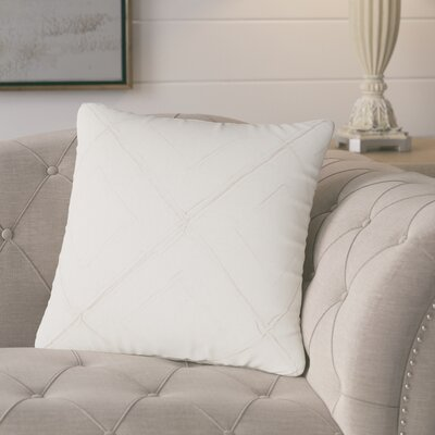 Kingsburg Decorative 100% Cotton Throw Pillow Color: White
