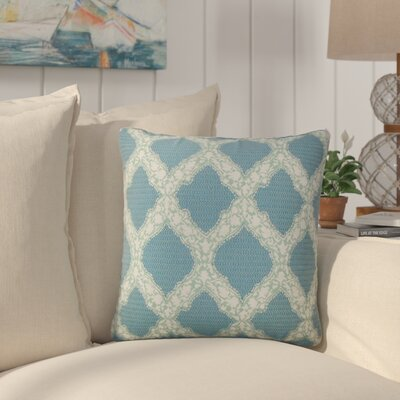 J Geometric Cotton Throw Pillow Color: Turquoise