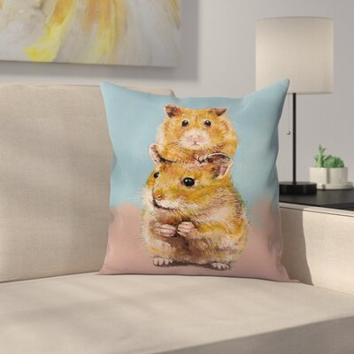 Michael Creese Hamsters Throw Pillow Size: 18 x 18