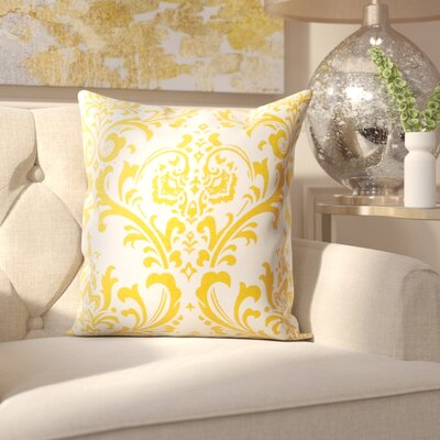 Burlington 100% Cotton Throw Pillow Color: Corn Yellow, Size: 20 x 20