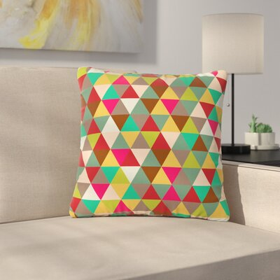 Autumn Triangle Spectrum Geometric Outdoor Throw Pillow Size: 18 H x 18 W x 5 D