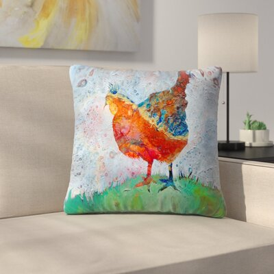 Sunshine Taylor Hen Indoor/Outdoor Throw Pillow Size: 18 x 18