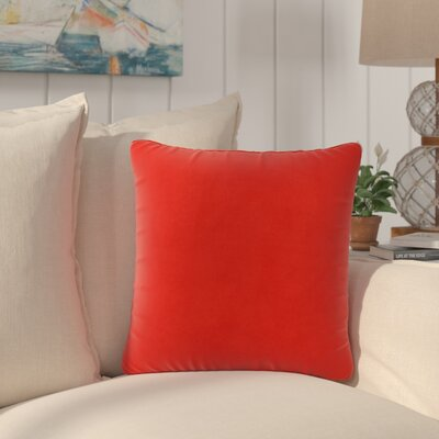 Dugan Soft Suede Throw Pillows Color: Red