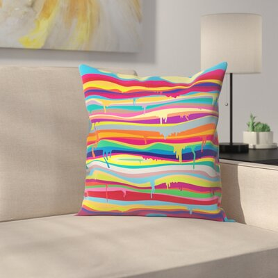 Joe Van Wetering The Melting Throw Pillow Size: 14 x 14