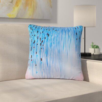 Ebi Emporium Mystic Garden Outdoor Throw Pillow Size: 18 H x 18 W x 5 D, Color: Blue