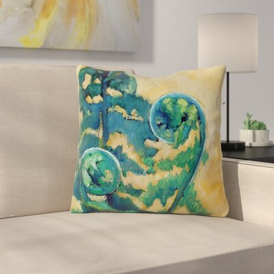 Fiddleheads by Carol Schiff Throw Pillow Size: 18 H x 18 W x 3 D