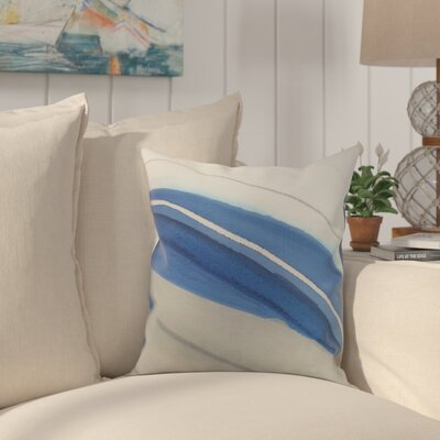 Crider Boat Bow Wood Print Indoor/Outdoor Throw Pillow Color: Taupe, Size: 20 x 20