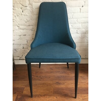 Eichelberger Urban Upholstered Dining Chair Color: Blue