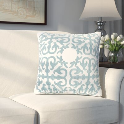 Abbey Embroidery Eastern Throw Pillow Color: Blue