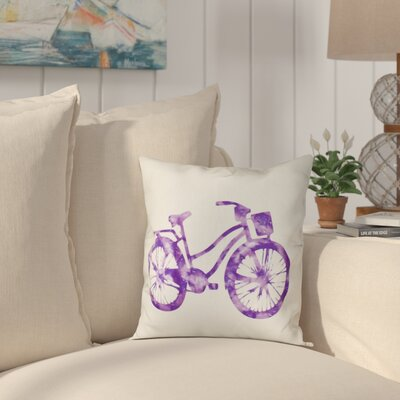 Golden Beach Life Cycle Geometric Throw Pillow Size: 26 H x 26 W, Color: Purple