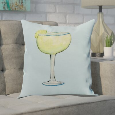 Carmack Margarita Throw Pillow Color: Pale Blue, Size: 18 x 18