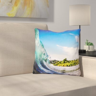 Manufahi Tropical Wave Throw Pillow