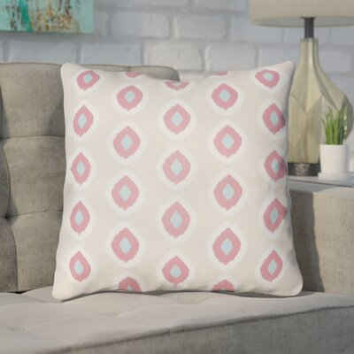 Malachi Circles Indoor/Outdoor Pillow Cover Size: 20 H x 20 W x 3.5 D, Color: Tan/Pink