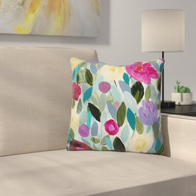 Tranquility Blooms Throw Pillow