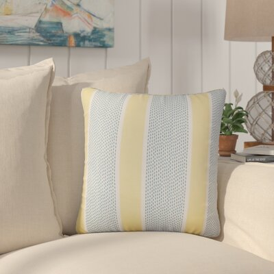 Varela Striped Cotton Throw Pillow Color: Lemon