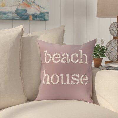 Cedarville Beach House Throw Pillow Size: 16 H x 16 W, Color: Lavender