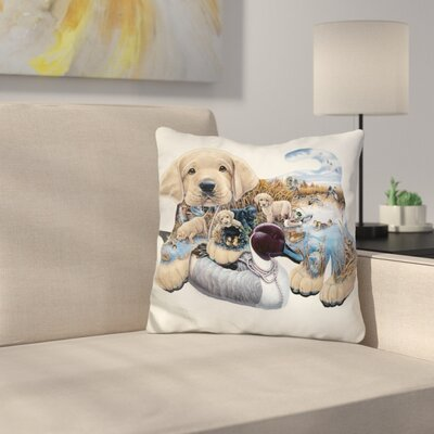Sweet Puppy Tales Throw Pillow