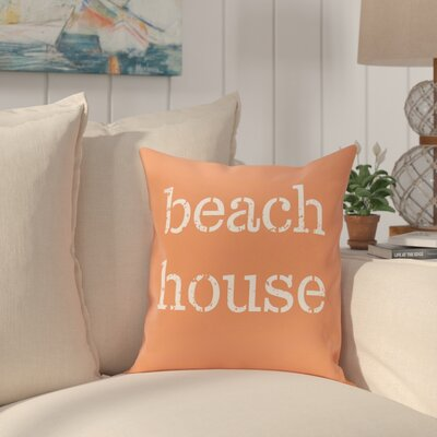 Cedarville Beach House Throw Pillow Size: 26 H x 26 W, Color: Coral