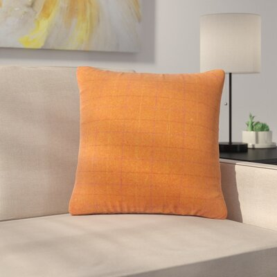 Baltimore Plaid Down Filled Throw Pillow Size: 24 x 24, Color: Orange