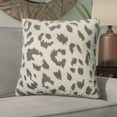 Tyre Cheetah Linen Throw Pillow Color: Smoky Gray