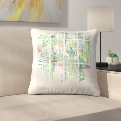 Winter in Glasshouses 2 Throw Pillow Size: 14 x 14
