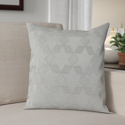 Genese Stitched Star Cotton Throw Pillow Color: Silver