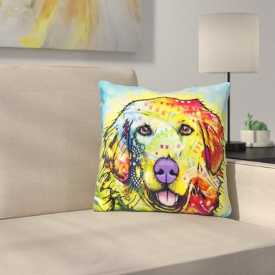 Golden Retriever Shaped Throw Pillow