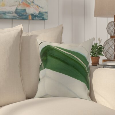Crider Boat Bow Left Print Indoor/Outdoor Throw Pillow Color: Green, Size: 16 x 16