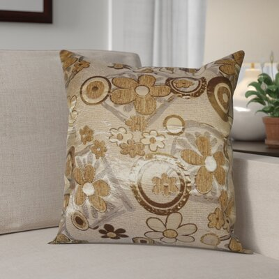 Merlene Daisy Decorative Pillow Cover Color: Gold