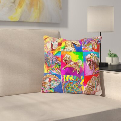 Carousel Ponies Throw Pillow