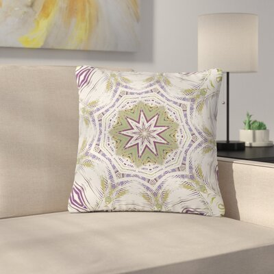 Alison Coxon Boho Dream Outdoor Throw Pillow Size: 16 H x 16 W x 5 D, Color: Purple/Green
