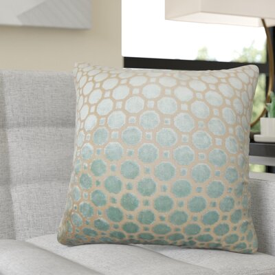 Richart Geometric Cotton Throw Pillow Color: Blue
