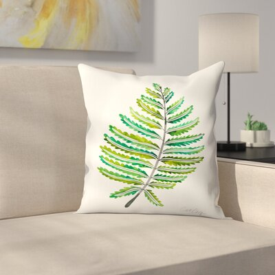 Fern Leaf Throw Pillow Size: 18 x 18