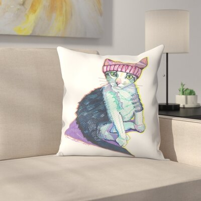 Feminist Kitty Throw Pillow Size: 18 x 18
