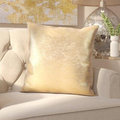 Alejandre Shimmering Metallic Foil Throw Pillow Color: Gold