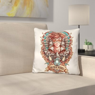 Overwatch Design Color Throw Pillow